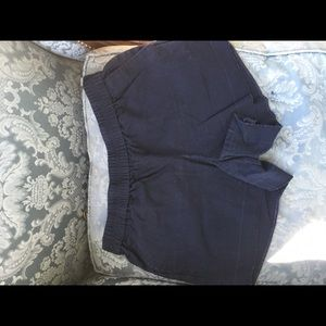 J crew elastic navy shorts